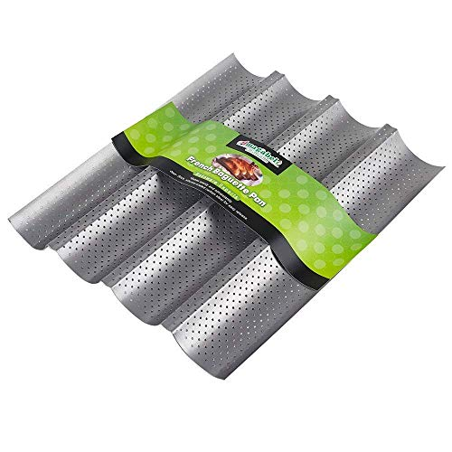 Amagabeli Nonstick Perforated Baguette Pan 15' x 13' for French Bread...