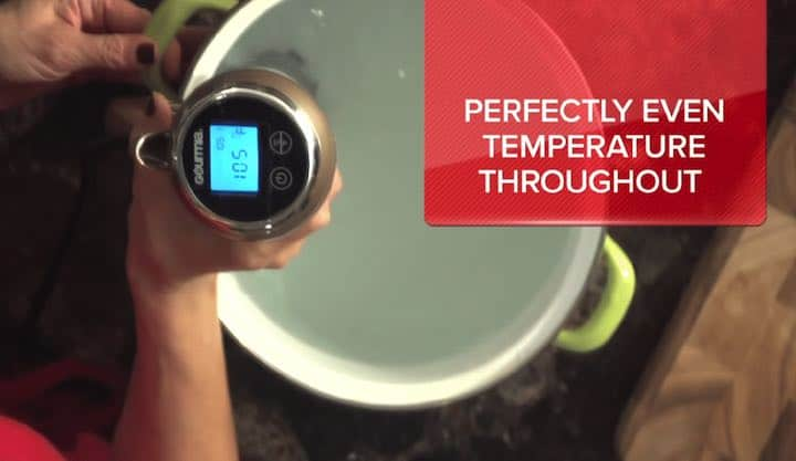 Gourmia Sous Vide Pod GSV130B Water Circulation Evenly Cooks